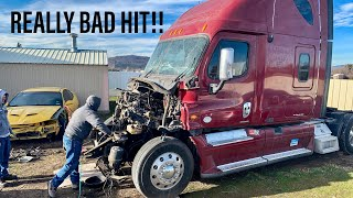 Rebuilding a totaled Freightliner Cascadia (Part 1)