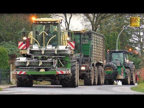 Das letzte Maisfeld  - Maishäckseln 2017 - LU Bauch Maisernte - Maize harvest Germany - farmer