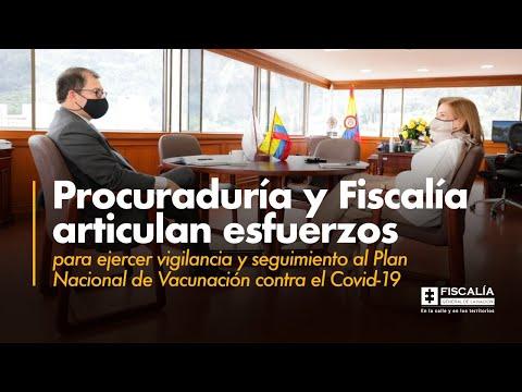 Fiscal Barbosa: Procuraduría y Fiscalía vigilarán Plan Nacional de Vacunación contra el Covid-19