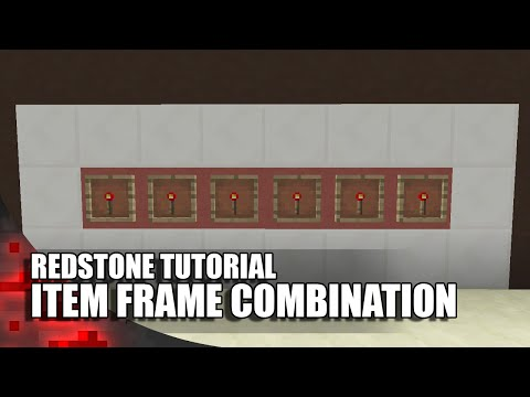 Item frame combo lock -- minecraft tutorial