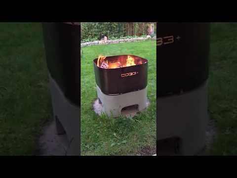 CO33 Feuerkorb aus Beton und Edelstahl