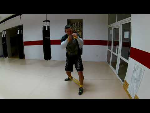 Champion boxing with RD bands form FitAction