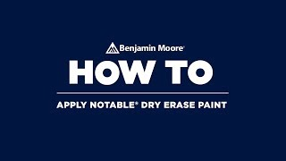 How to paint a dry erase wall