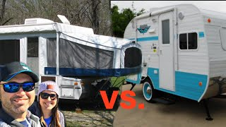POP UP CAMPER VS TRAVEL TRAILER! (PROs and CONs)