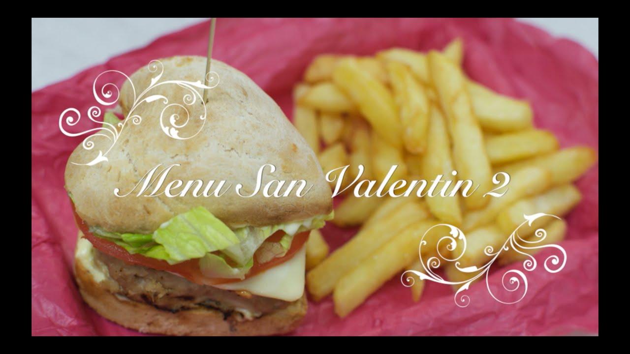 Menú para San Valentin 2 | Hamburguesas Caseras con forma de Corazón | Recetas de San Valentin