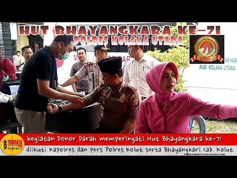 Rangkaian peringatan HUT Bhayangkara ke-71 di Polres Kolaka Utara