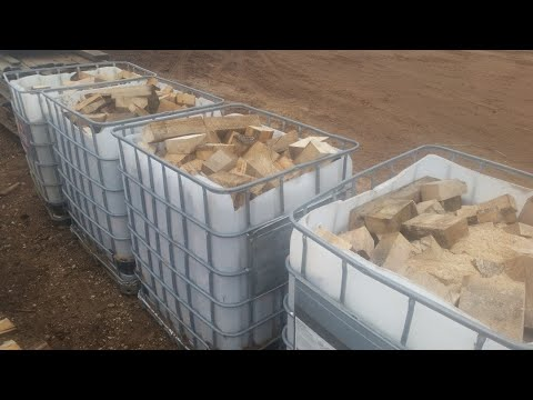 Sawmill Cut Off Blocks for Firewood - $25 a tote worth