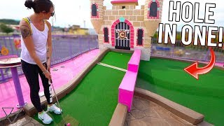 Triple Mini Golf Hole In One At One Of The Best Mini Golf Courses Ever!