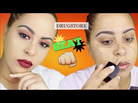 In depth Drugstore Beat Makeup Tutorial