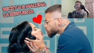(REACCIÓN) Becky G, Maluma   La Respuesta (Official Video)
