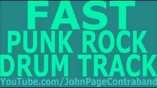 Fast Skate Punk Rock Drum Backing Track D-Beat FREE