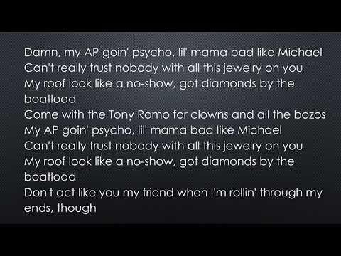 Post Malone - Psycho ft  Ty Dolla $ign (official lyrics)