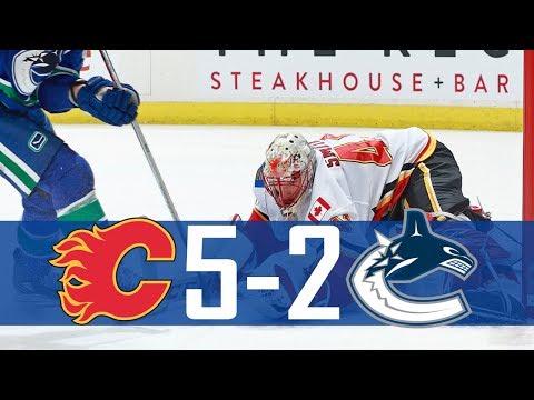Canucks vs Flames | Highlights | Oct. 14, 2017 [HD]