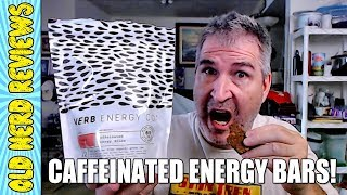 Maple Blueberry, Cocoa, & Salted Peanut Butter Caffeinated Energy Bars REVIEW | Verb Energy Co. 💪💥