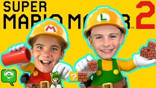 Mario Maker 2 on the Nintendo Switch First Look with HobbyFamilyTV