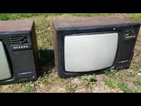 Телевизоры Рекорд ВЦ 381. Разбор но радио детали и различные металлы.