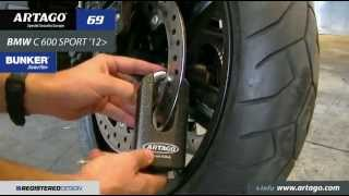 BMW C600 SPORT 2012 & 69T/B (antirrobo moto, moto lock, antivol moto)