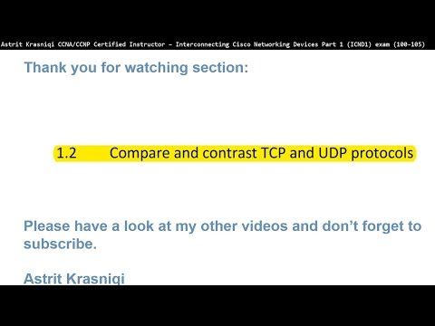CCNA ICND1 (100-105) Exam Section: 1.2 Compare and contrast ...