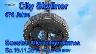 preview picture of video 'City Skyliner 676 Jahre Soester Allerheiligenkirmes.So.10.11.2013 TVAlpino21NRW'