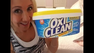 OxiClean As Laundry Booster | White Towel Experiment | Review By Kim Townsel