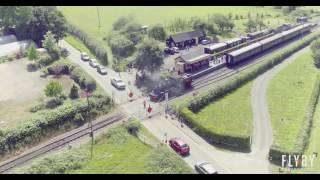 Kent and East Sussex Railway- Steam train Bodiam to Tenterden Drone Footage 4k (ULTRA HD)