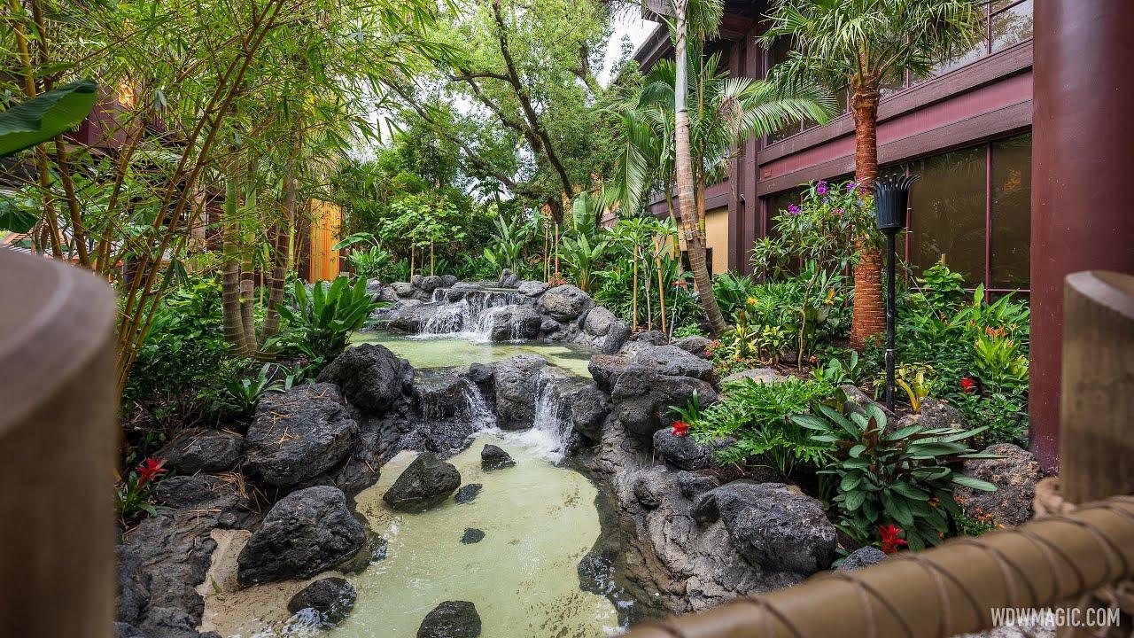 Disney's Polynesian Resort new main entrance gardens