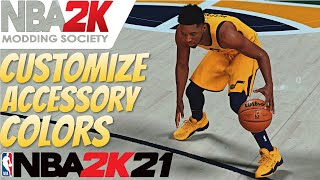 How To Change Sneaker & Accessory Colors In NBA 2K21 / How To Rename Jerseys In NBA 2K21