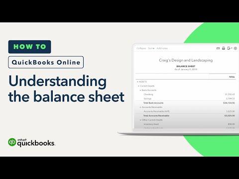 Understanding the Balance Sheet in QuickBooks Online (Tutorial)