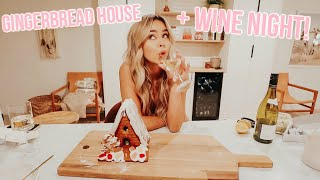 building a gingerbread house, drinking wine, baking cookies! vlogmas day 18!