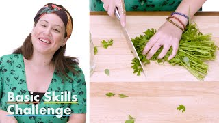 50 People Try to Mince Parsley   Epicurious