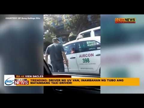 DRIVER NG UV VAN, INAMBAHAN NG TUBO ANG MATANDANG TAXI DRIVER!