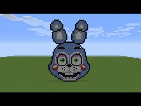 Download Minecraft Pixel Art Tutorial How To Make Toy Bonnie Part 1