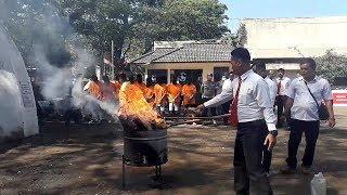Pemusnahan Barang Bukti Narkoba di Kantor Sat Narkoba Polrestabes Bandung