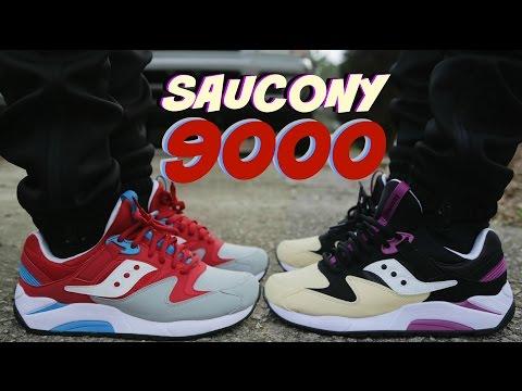 "Saucony Grid 9000 ""PB&J"" ""Superman"" w/ On Foot"