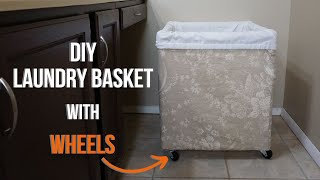 DIY Laundry Basket With Wheels - How To Make