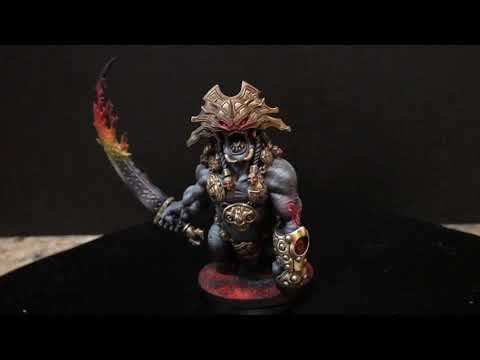 Blood Rage Board Game Fire Giant Miniature Professionally Painted Rogland Studios