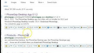 Framework7 tutorial 3 installing phonegap desktop ENCODING