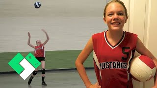 🏐 First School Volleyball Game of the Season! (Day 1990) | Clintus.tv