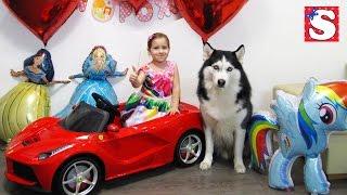 Подарок на День Рождения Софии Щенок Машина Ferrari игрушки Видео для детей Куклы TOYS FOR KIDS