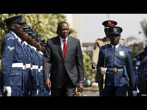 President Uhuru Kenyatta arrival for the 12th parliamentary sitting