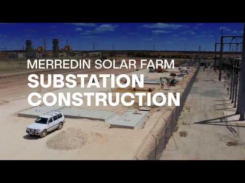 Merredin solar farm time lapse