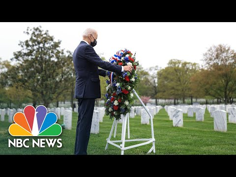 Biden Pays Respects At Section 60 Of Arlington National Cemetery | NBC News NOW