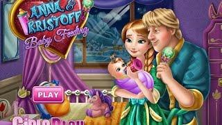 Frozen Anna and Kristoff Baby Feeding Games For Kids - Gry Dla Dzieci