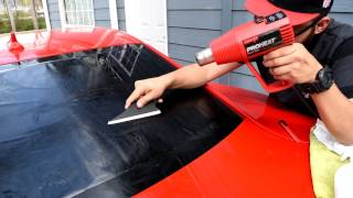 How to Tint a Back Window ( Camaro )