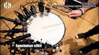 Microphone Comparison | Snare & Floor Tom - SM57 / I5 / V7X / E604 / E904 / V-Beat / ND46 / ND44