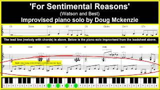 'For Sentimental Reasons' - jazz piano tutorial