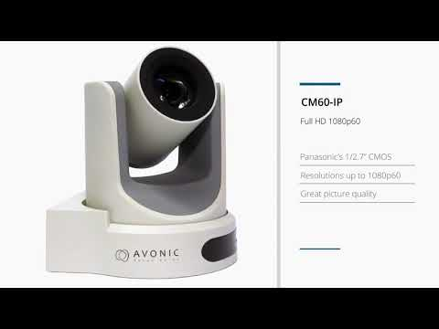 Cámara PTZ de 1080p - 60 fps Zoom 20x CM60-IP AVONIC