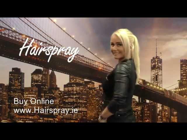 Hairspray Wrap Around Ponytail