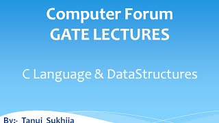 VIDEO 7 GATE Lectures C and Data Structures  STATIC VARIABLE Introduction