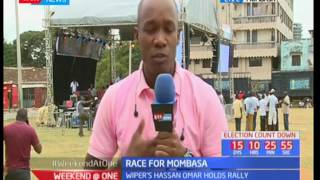 Race for Mombasa; Wiper's Hassan Omar Ali to hold rally at Tononoka ground